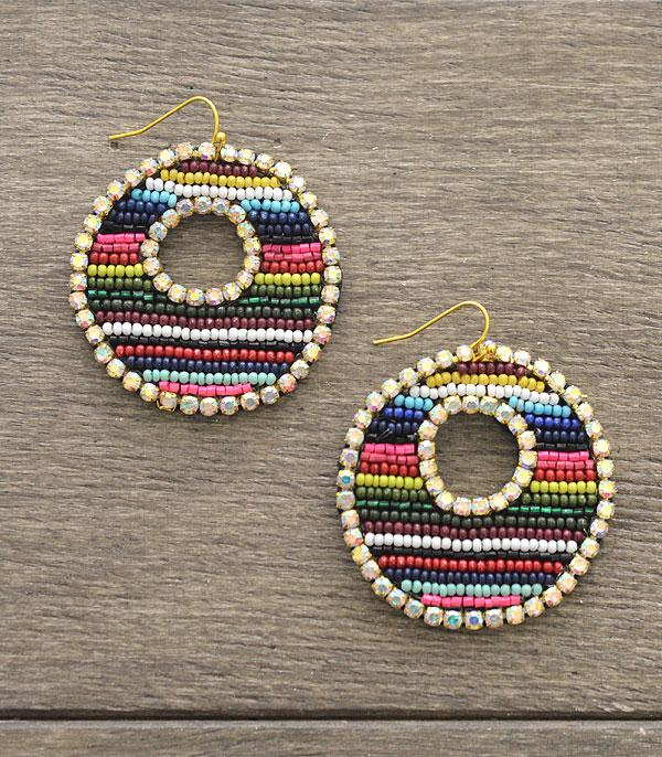 New Arrival :: Wholesale Seed Bead Rhinestone Earrings