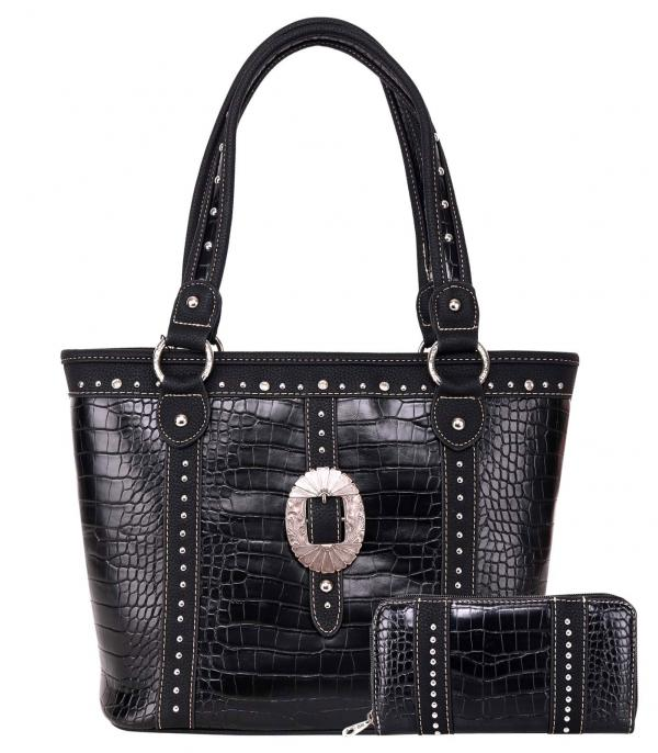 New Arrival :: Wholesale American Bling Buckle Tote Set Bag