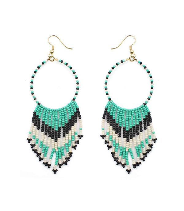 New Arrival :: Wholesale Navajo Seed Bead Tassel Earrings
