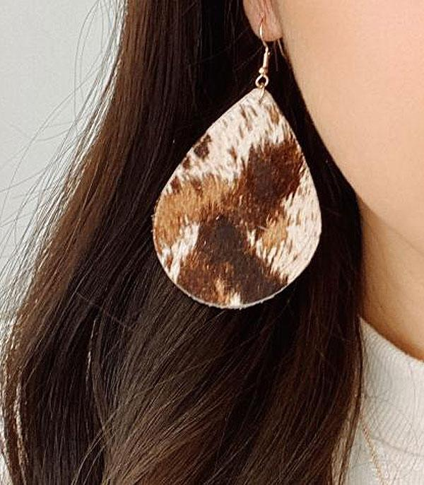 New Arrival :: Wholesale Genuine Leather Animal Print Earrings