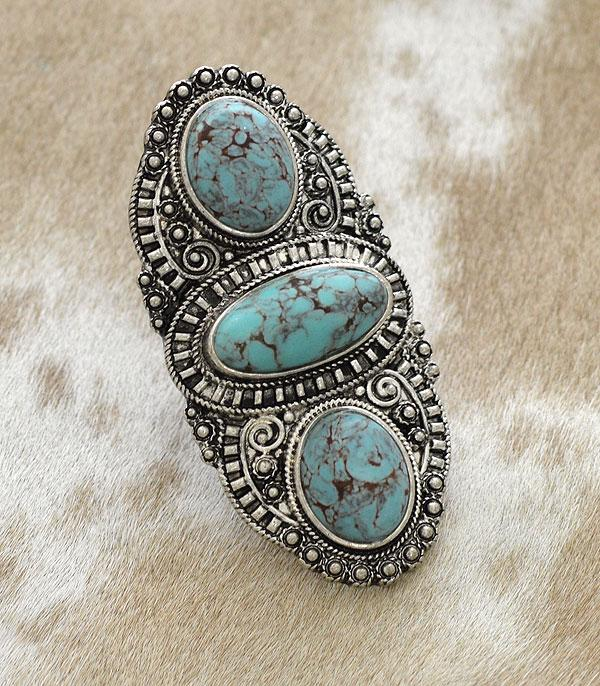 New Arrival :: Wholesale Turquoise Statement Western Ring