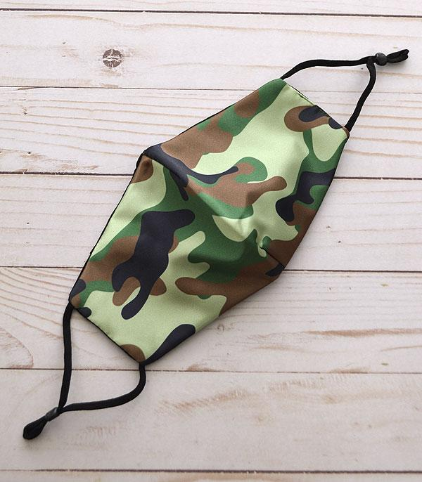 New Arrival :: Wholesale Camo Print Reusable Face Mask
