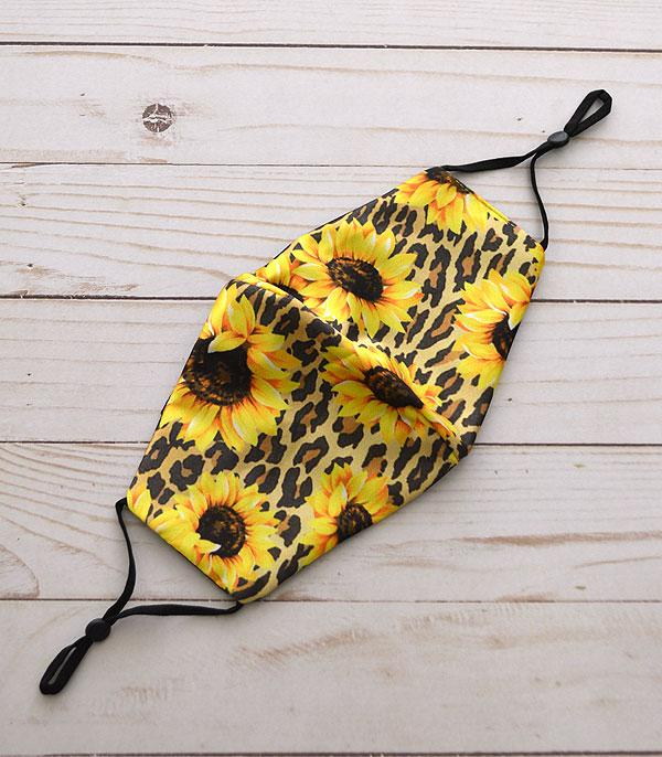 New Arrival :: Wholesale Sunflower Leopard Reusable Face Mask
