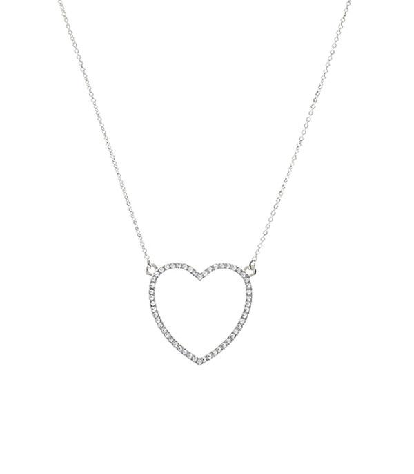 New Arrival :: Wholesale Rhinestone Heart Necklace