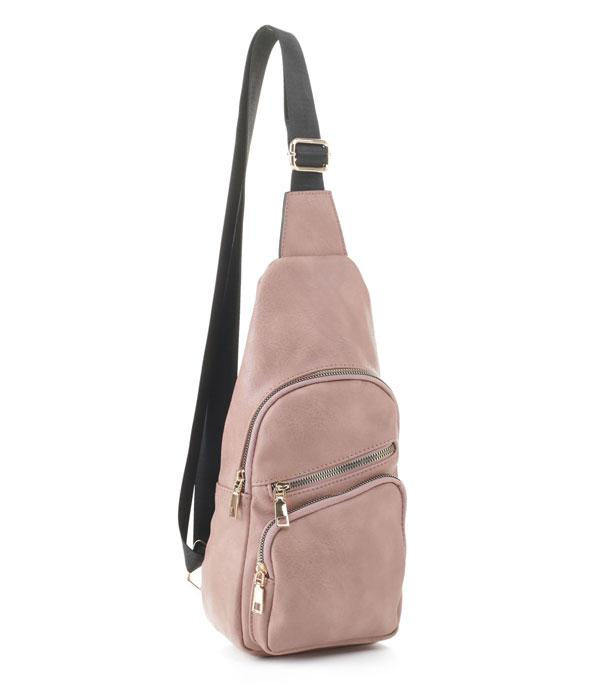 New Arrival :: Wholesale Soft Faux Leather Sling Bag