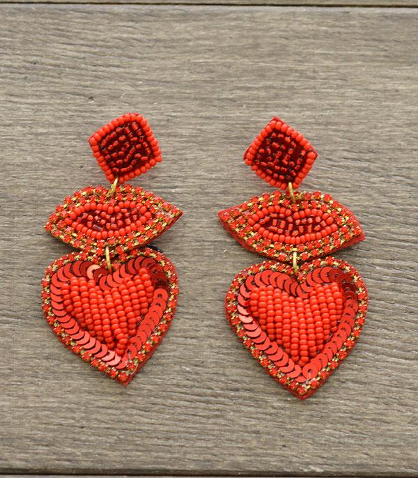 New Arrival :: Wholesale Seed Bead Heart Lips Earrings