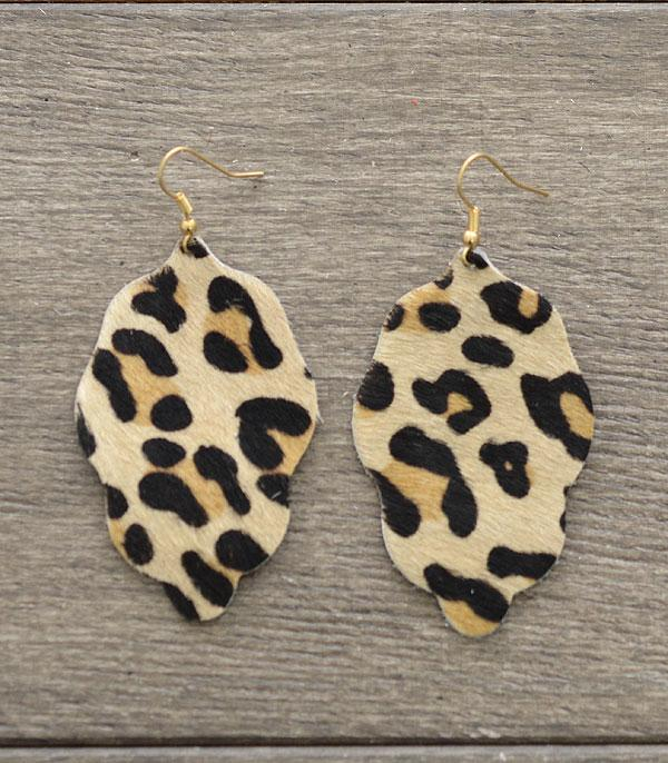 New Arrival :: Wholesale Genuine Leather Leopard Print Earrings