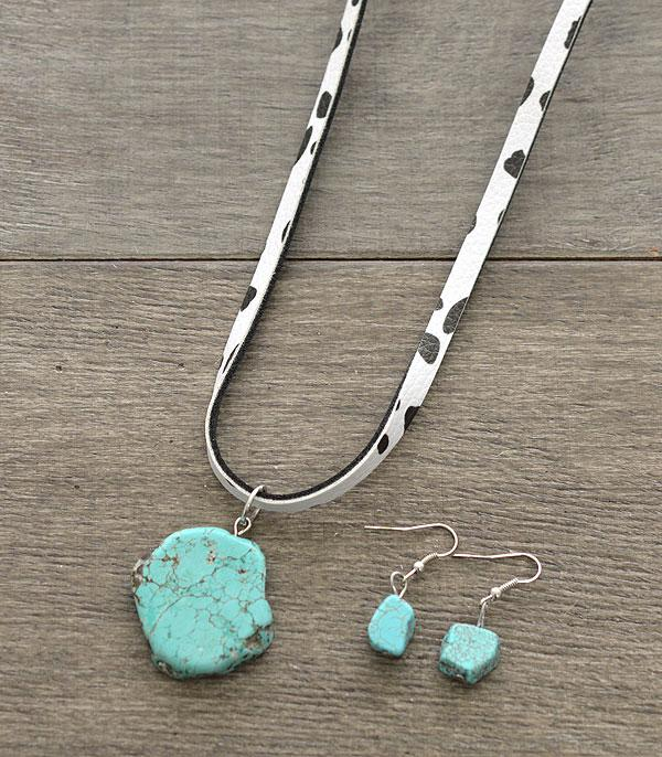 New Arrival :: Wholesale Tipi Turquoise Pendant Leather Necklace