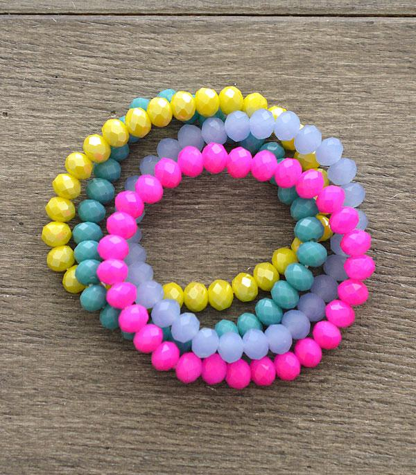 New Arrival :: Wholesale Glass Bead Stacked Bracelet Set