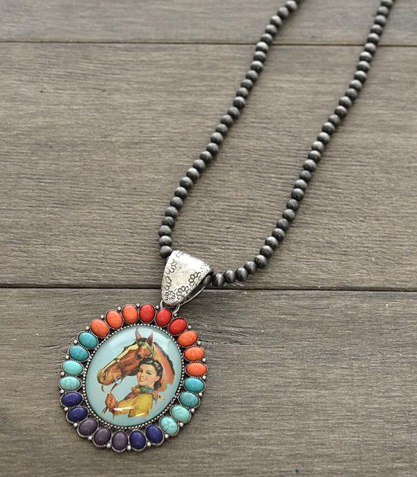 New Arrival :: Wholesale Cowgirl Turquoise Navajo Bead Necklace
