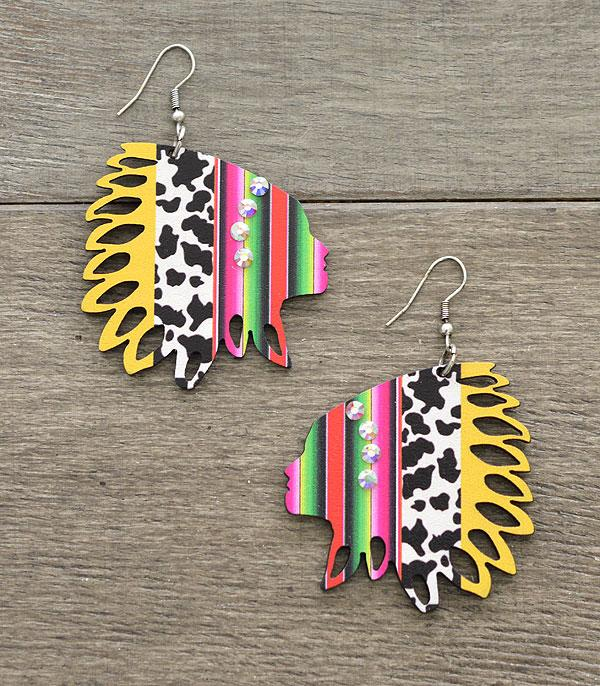 New Arrival :: Wholesale Tipi Headdress Wooden Earrings