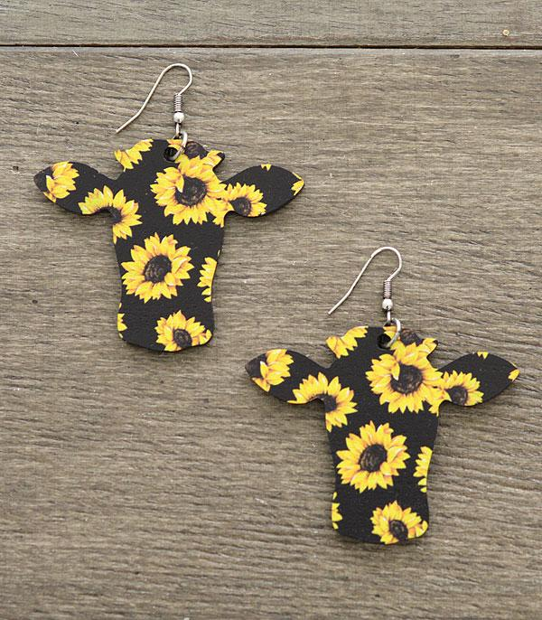 New Arrival :: Wholesale Tipi Cow Wooden Dangle Earrings