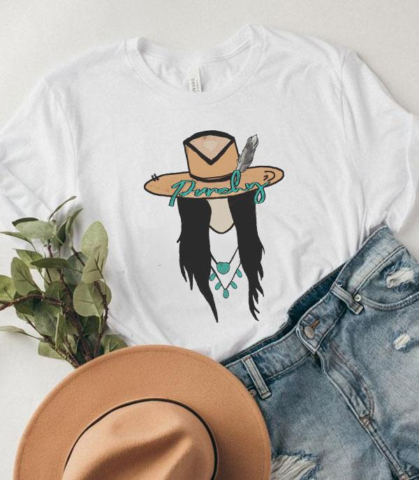 New Arrival :: Wholesale Punchy Cowgirl Graphic Tshirt