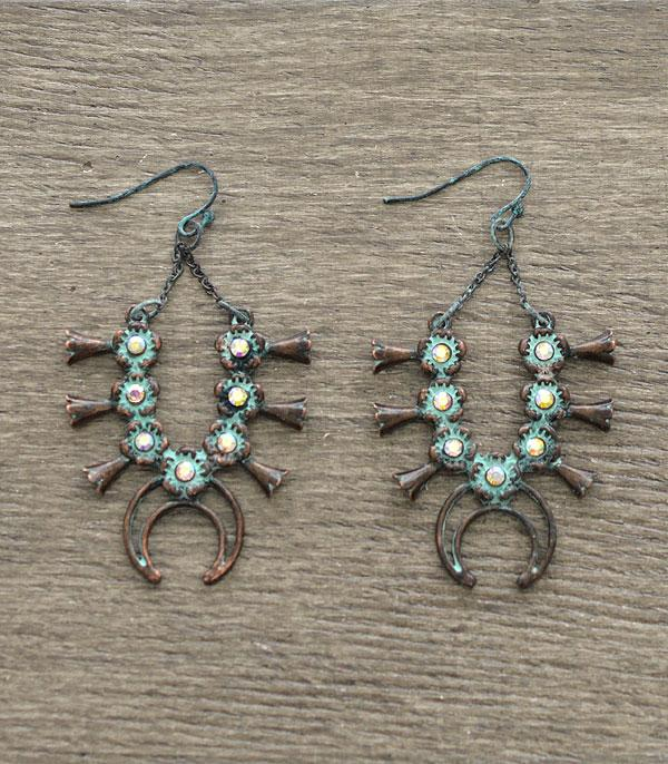 New Arrival :: Wholesale Western Squash Blossom Earrings
