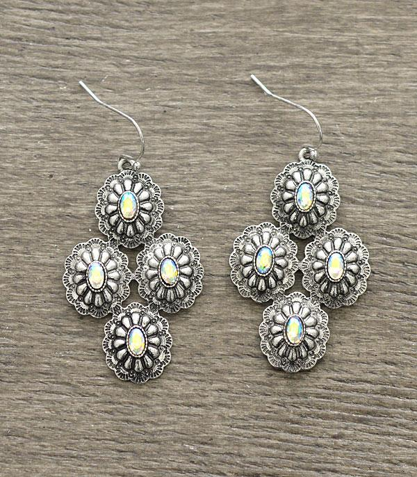 New Arrival :: Wholesale Western Concho Earrings