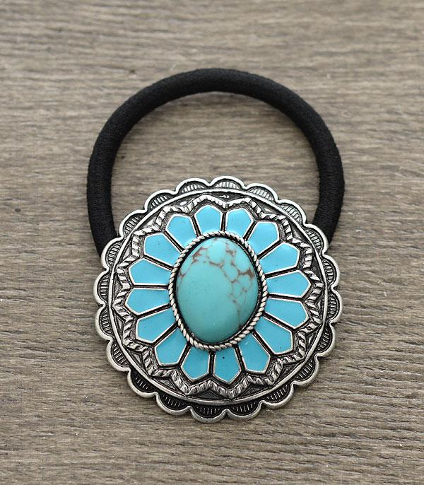 New Arrival :: Wholesale Western Turquoise Pony Tail Hair Tie