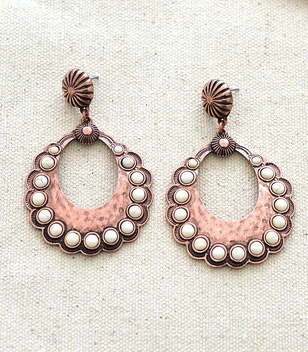 New Arrival :: Wholesale Tipi Western Concho Earrings
