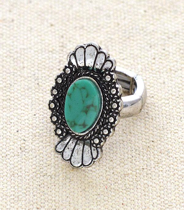 New Arrival :: Wholesale Tipi Western Turquoise Ring