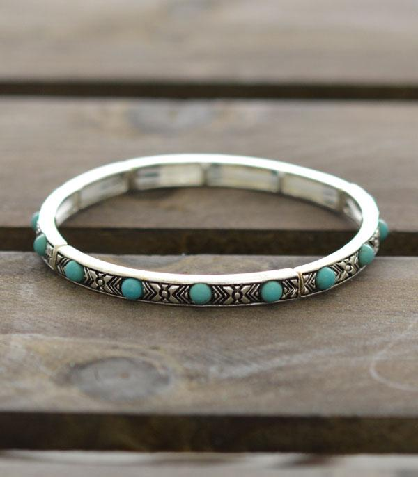 New Arrival :: Wholesale Western Turquoise Stackable Bracelet