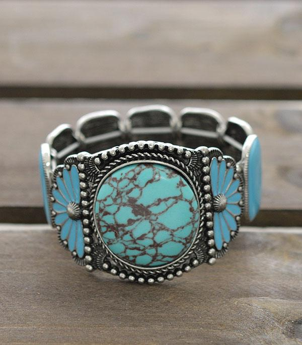 New Arrival :: Wholesale Western Turquoise Statement Bracelet
