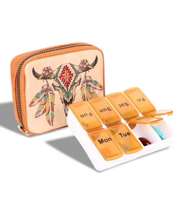 New Arrival :: Wholesale Montana West Western Pill Box Organizer