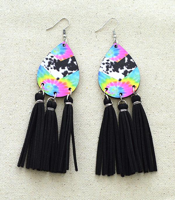 New Arrival :: Wholesale Tipi Teardrop Tassel Earrings
