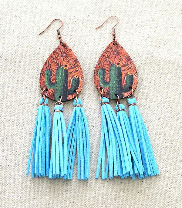 New Arrival :: Wholesale Tipi Western Teardrop Tassel Earrings