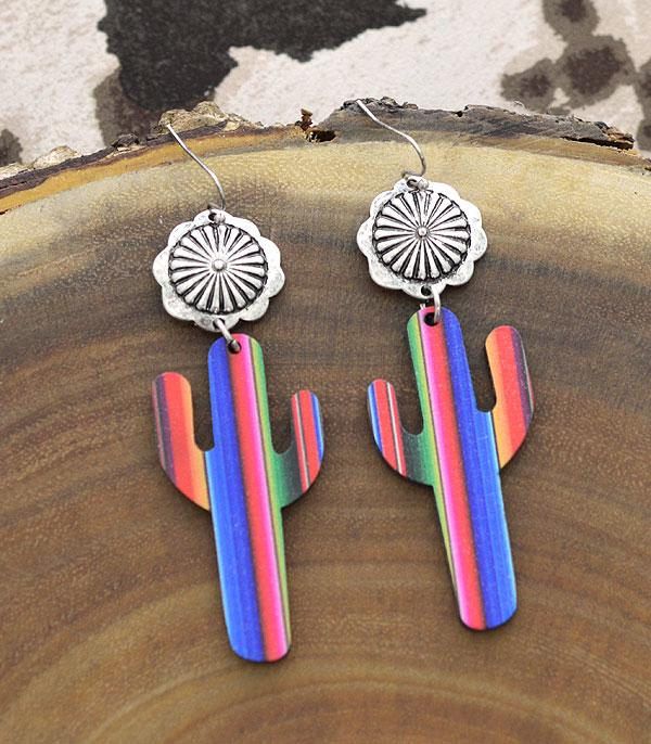 New Arrival :: Wholesale Tipi Cactus Wooden Dangle Earrings
