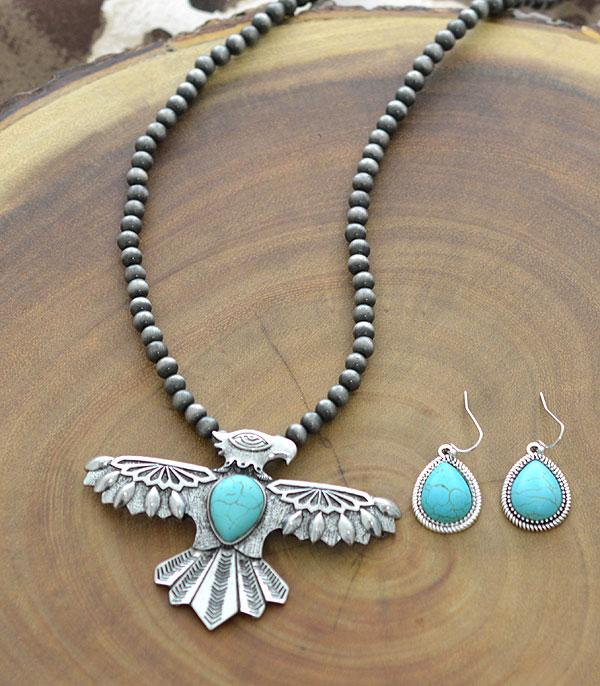 New Arrival :: Wholesale Western Turquoise Thunderbird Necklace