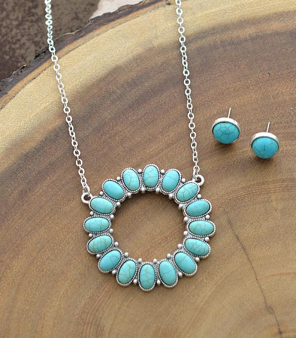 New Arrival :: Wholesale Tipi Western Turquoise Necklace Set