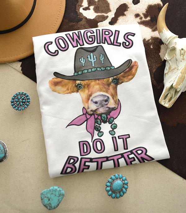 New Arrival :: Wholesale Western Cowgirls Do It Better Tshirt
