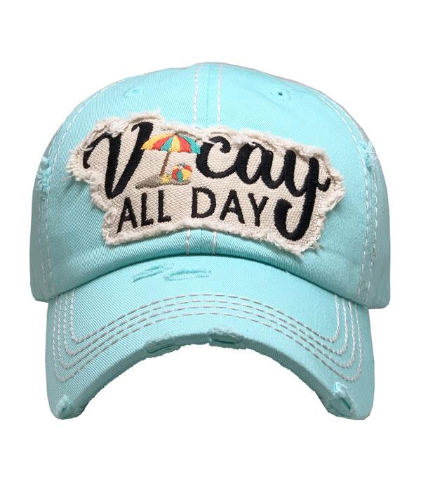 New Arrival :: Wholesale Vacay All Day Vintage Ballcap