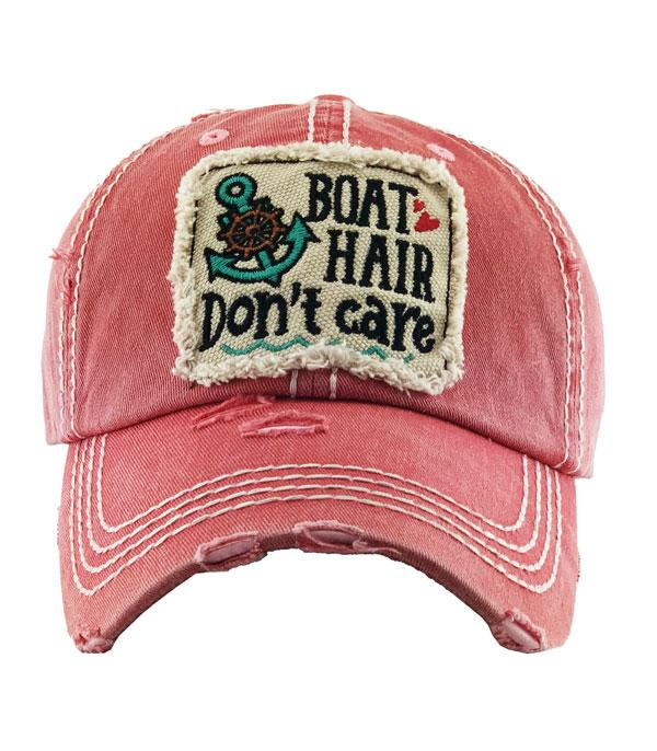 New Arrival :: Wholesale Boat Hair Dont Care Vintage Ballcap