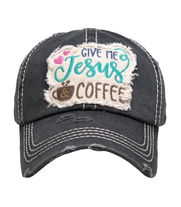 New Arrival :: Wholesale Give Me Jesus Coffee Vintage Ballcap