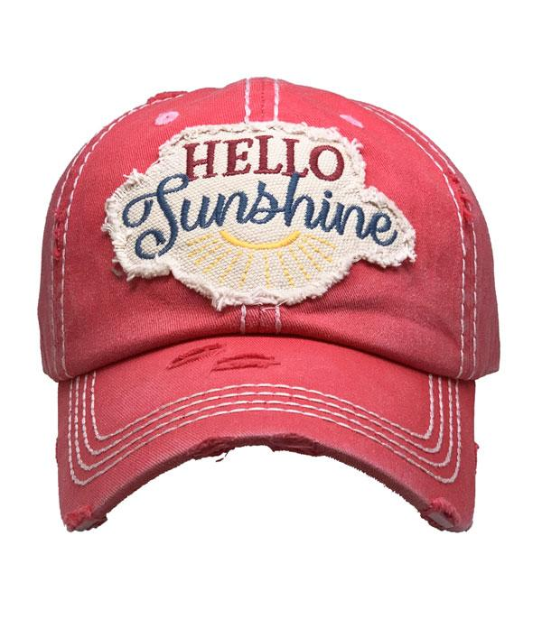 New Arrival :: Wholesale Hello Sunshine Vintage Ballcap