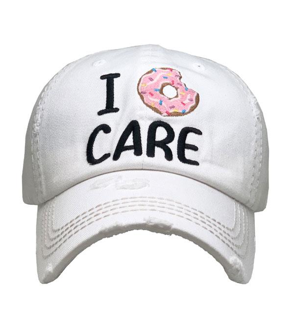 New Arrival :: Wholesale I Donut Care Vintage Ballcap