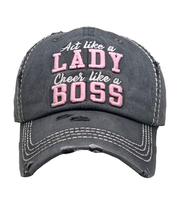 New Arrival :: Wholesale Act Like A Lady Vintage Ballcap