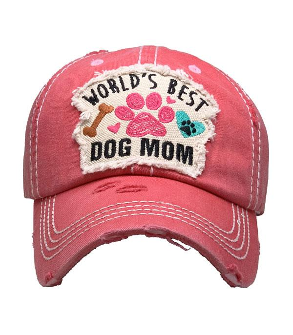 New Arrival :: Wholesale Best Dog Mom Vintage Ballcap