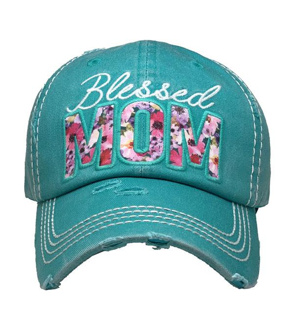 New Arrival :: Wholesale Blessed Mom Vintage Ballcap