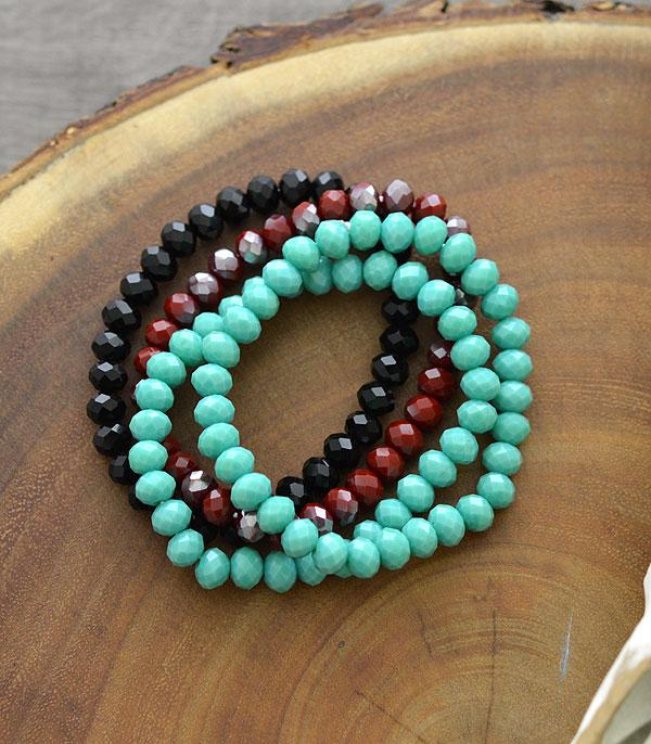 New Arrival :: Wholesale Glass Bead Stacking Bracelet
