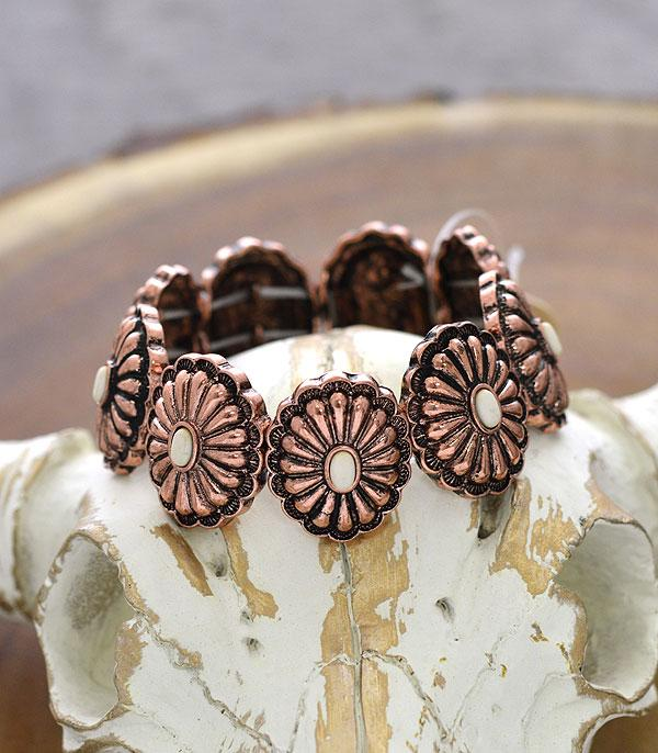 New Arrival :: Wholesale Western Concho Stretch Bracelet