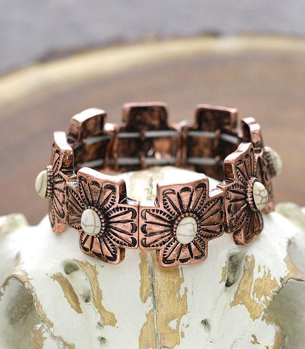 New Arrival :: Wholesale Tipi Western Cross Stretch Bracelet