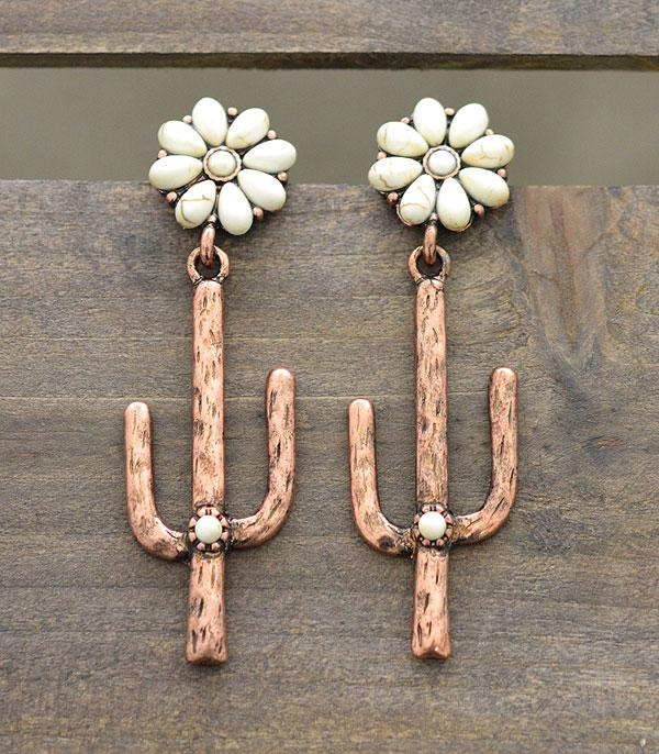 New Arrival :: Wholesale Tipi Cactus Dangle Earrings