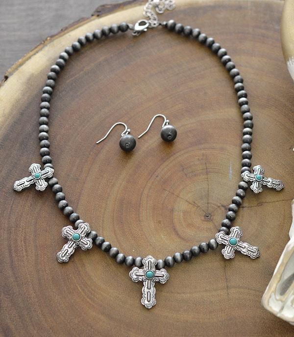 New Arrival :: Wholesale Western Cross Charm Necklace