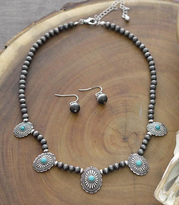 New Arrival :: Wholesale Western Concho Navajo Bead Necklace
