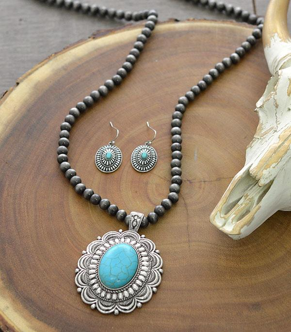 New Arrival :: Wholesale Western Turquoise Pendant Necklace