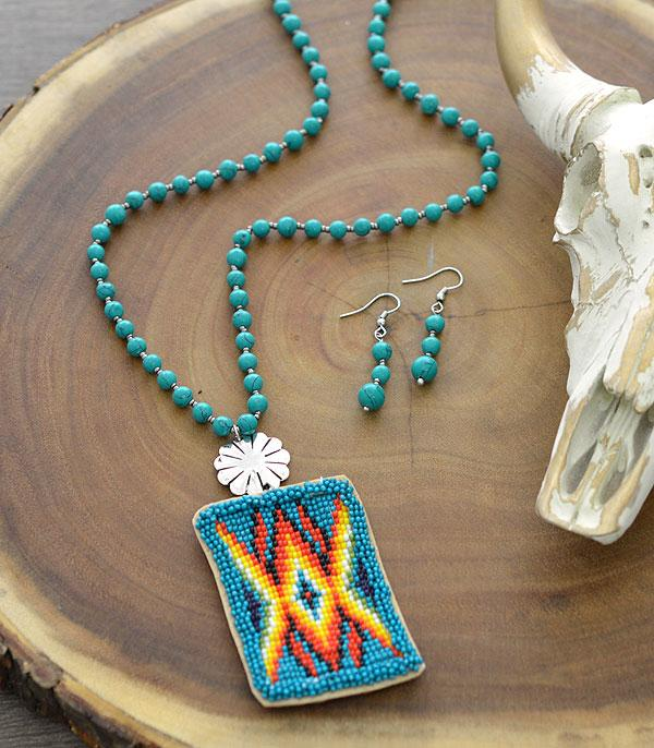 New Arrival :: Wholesale Tipi Navajo Seed Bead Necklace Set