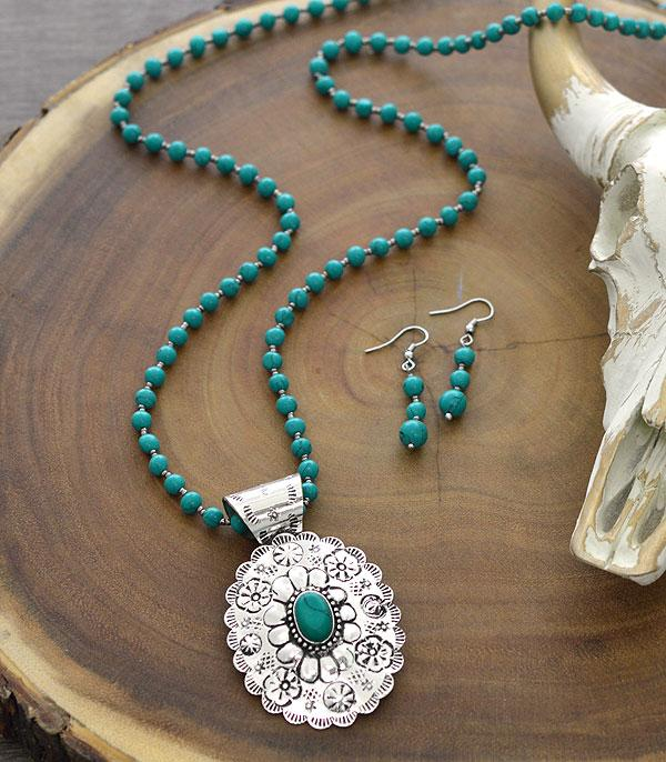 New Arrival :: Wholesale Tipi Turquoise Concho Necklace Set