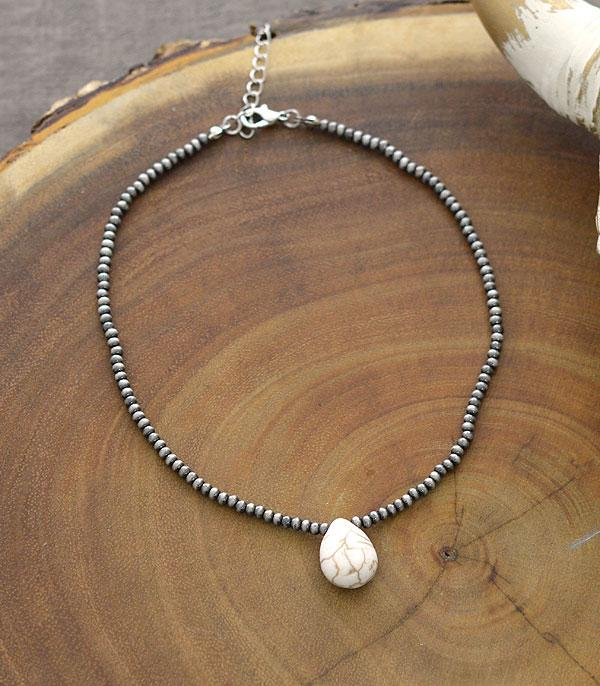 New Arrival :: Wholesale Teardrop Stone Navajo Bead Choker