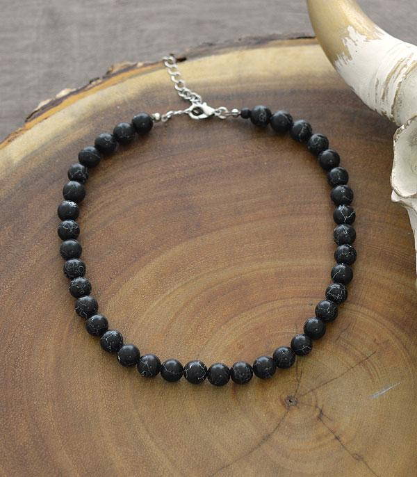 New Arrival :: Wholesale 8mm Stone Bead Choker Necklace